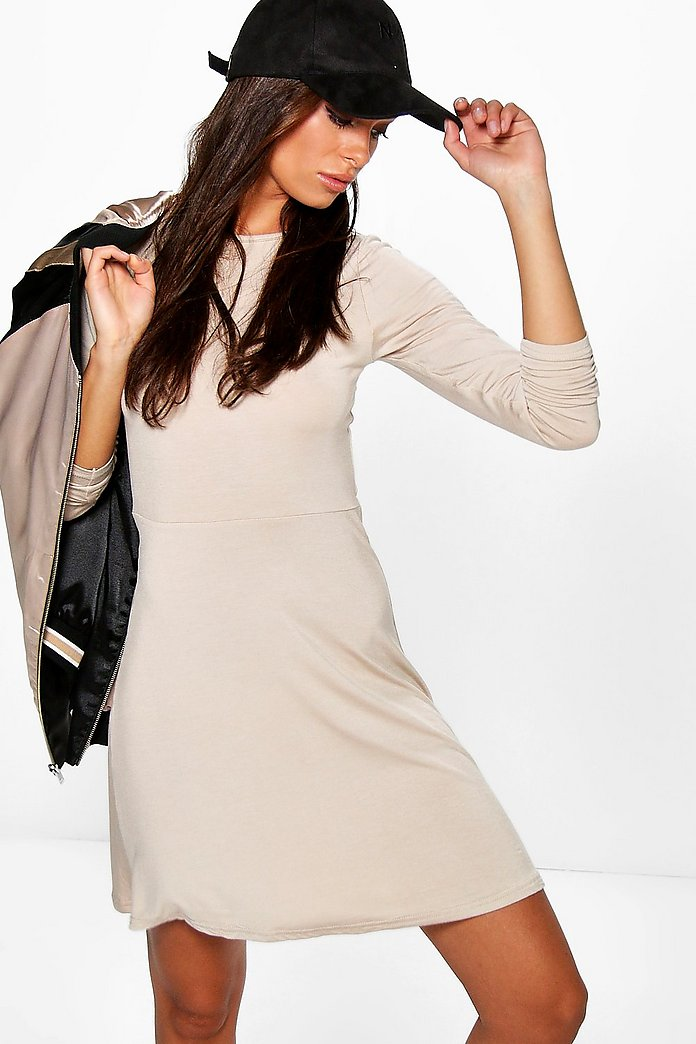 Ellie Skater Dress With Long Sleeves
