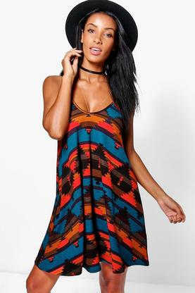 Mya Strappy Swing Dress