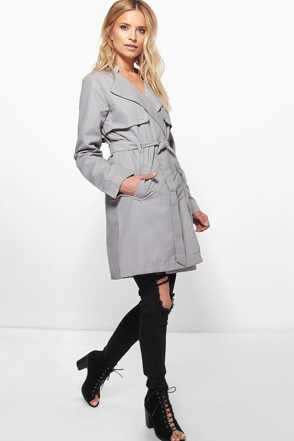 Emma Belted Duster Trench