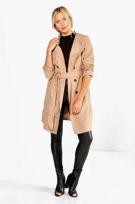 Lexi Belted Collarless Mac