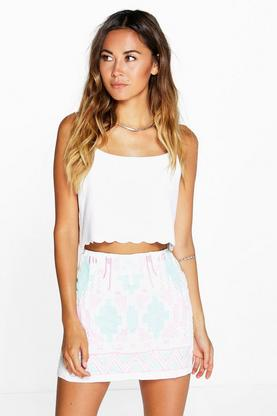 Emily Aztec Print Mini Skirt