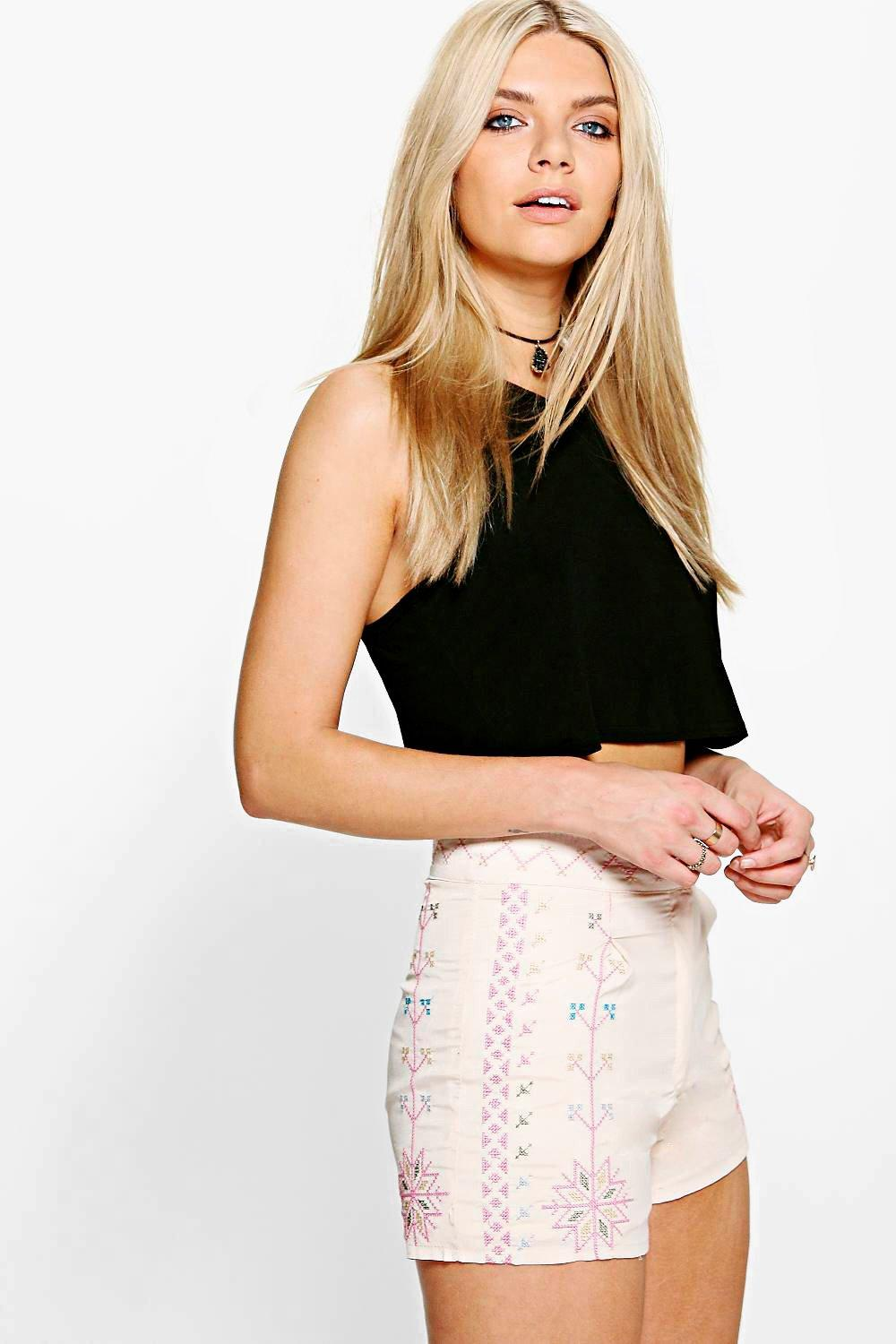 Mia Patterned High Waisted Shorts