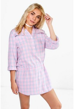 Georgia Check Shirt Dress