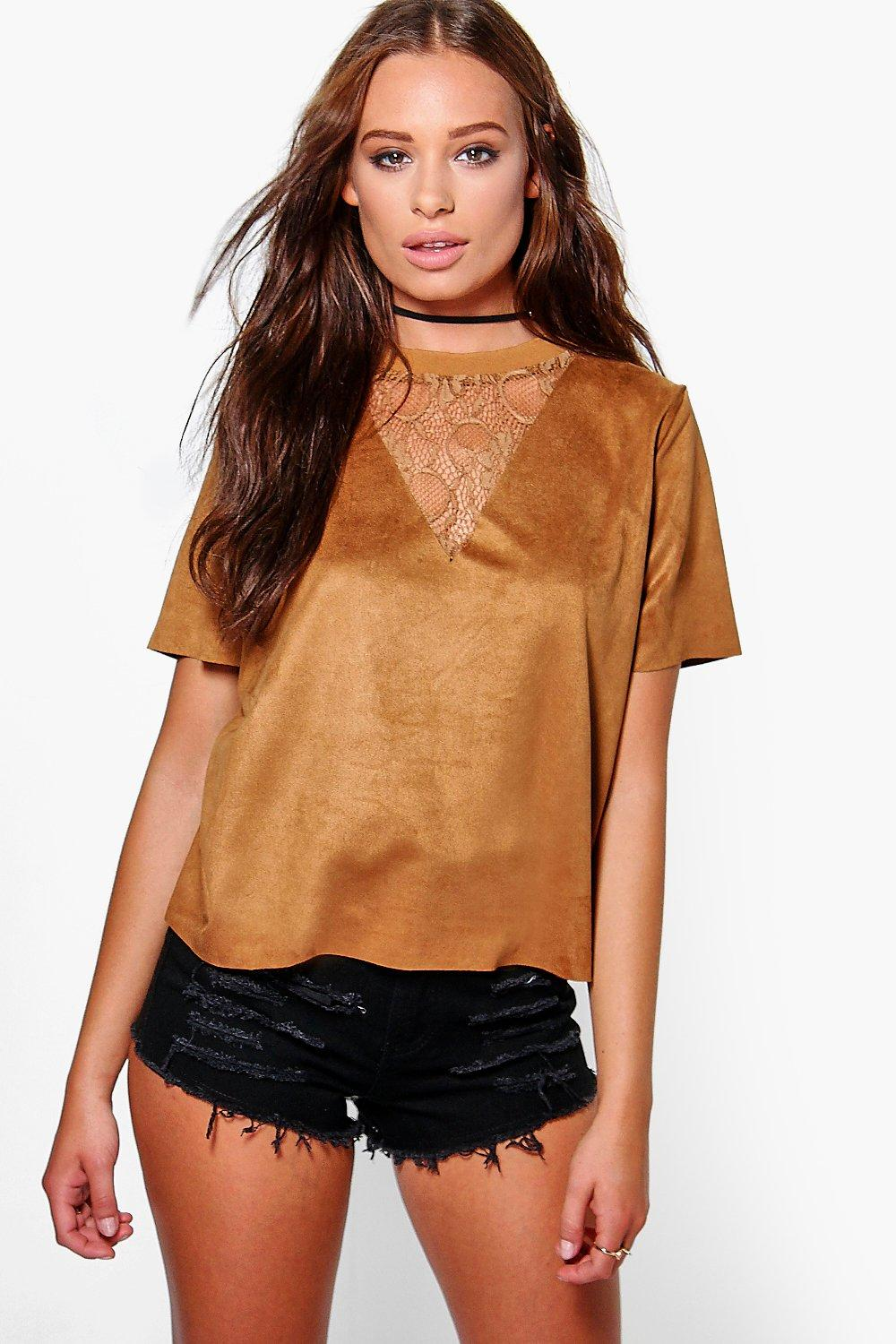 Amber Lace Insert Top