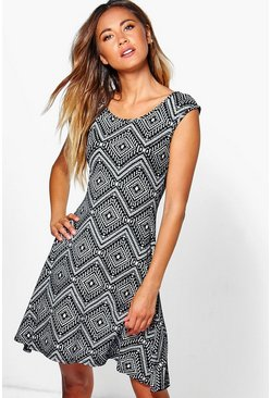 Lauren Monochrome Swing Dress