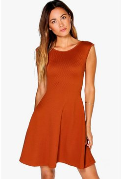Eleanor Textured Swing Dress