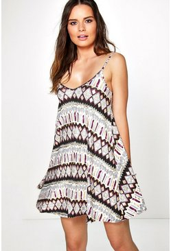 Sofia Tie Dye Scuba Swing Dress