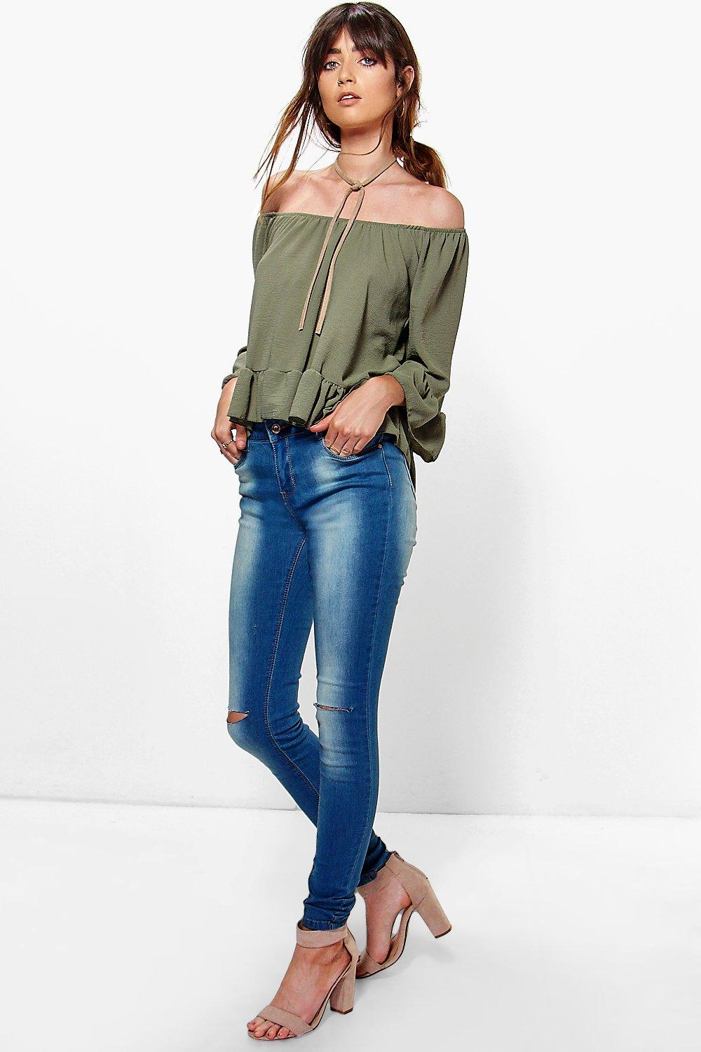 Keira Skinny Washed Blue Jean