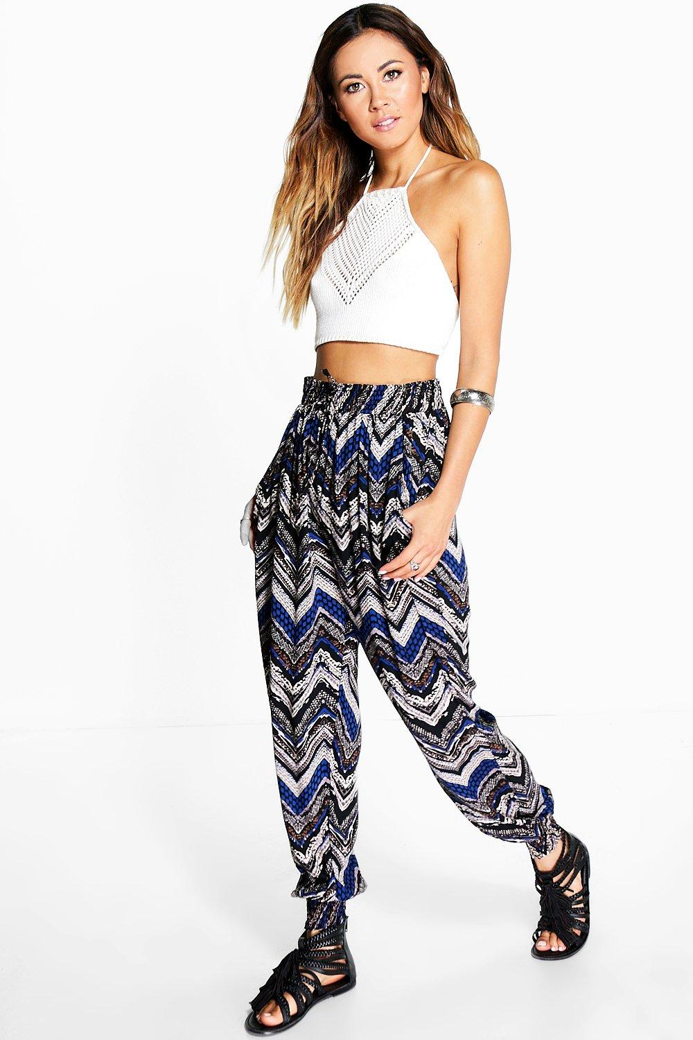 Alice Printed Elasticated Cuff Trouser