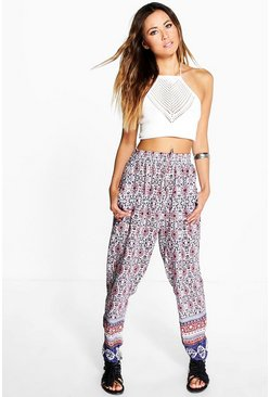 Nelly Border Print Trouser