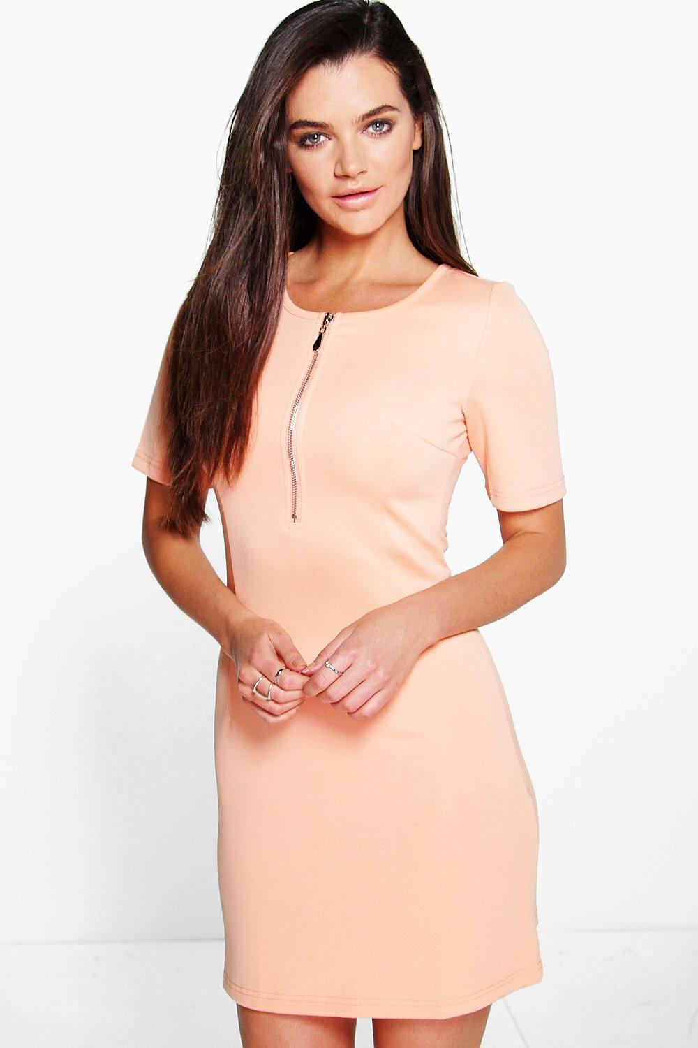 Emily Scuba Zip Detail Dress