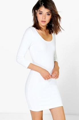 Esme Scoop Neck Textured Dress