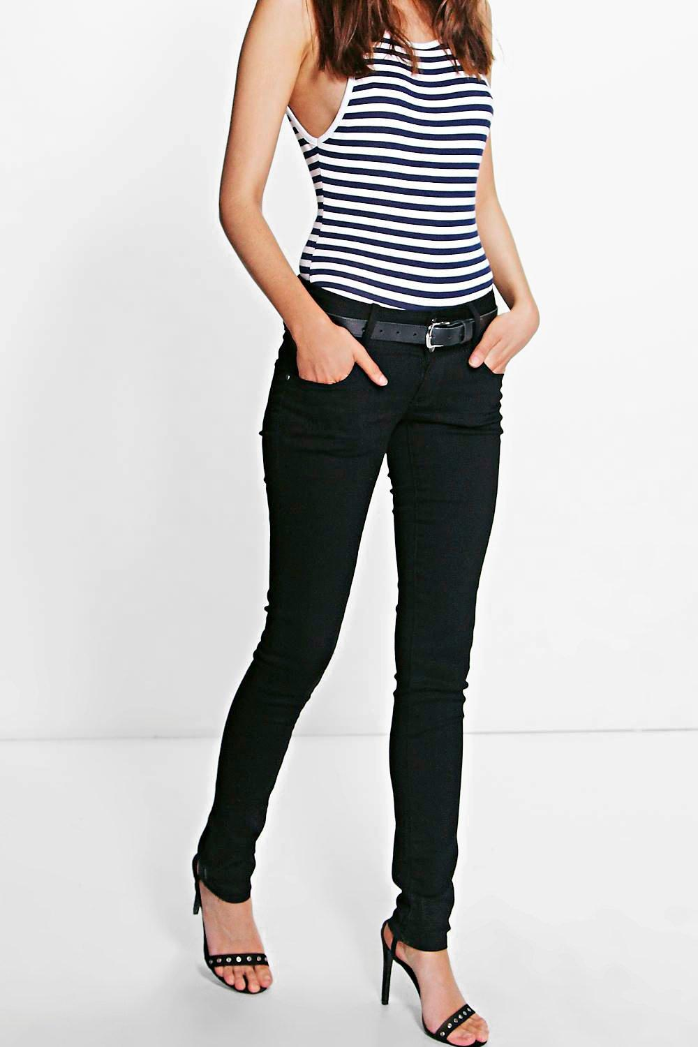 Jade Black High Waist Skinny Jean