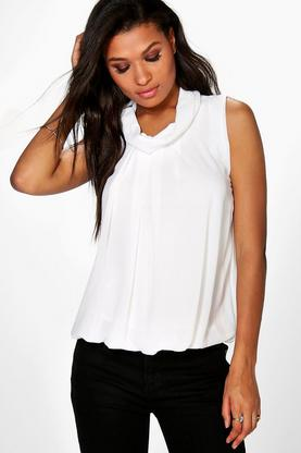 Elise High Neck Sleeveless Blouse