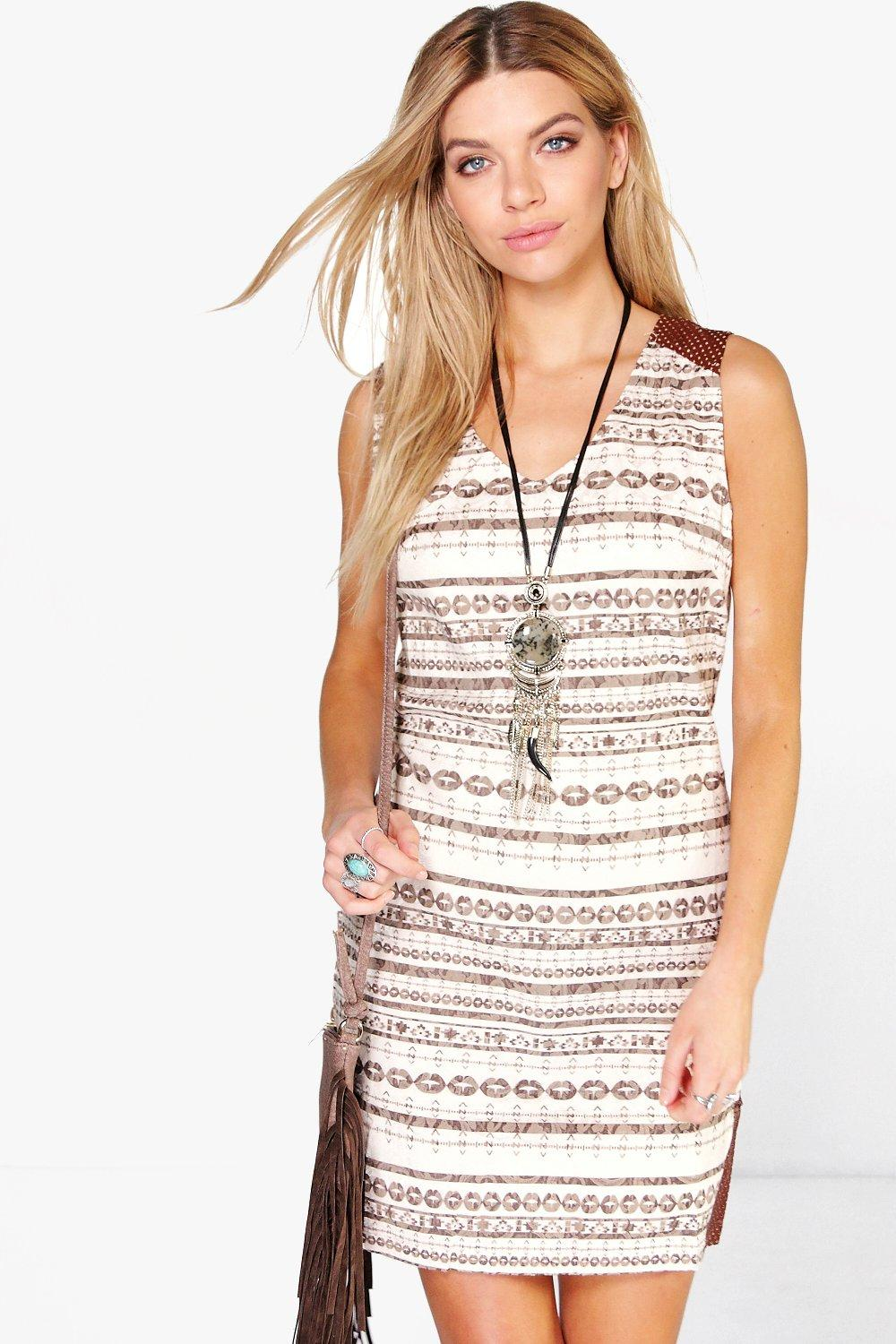 Millie Aztec Monochrome Dress
