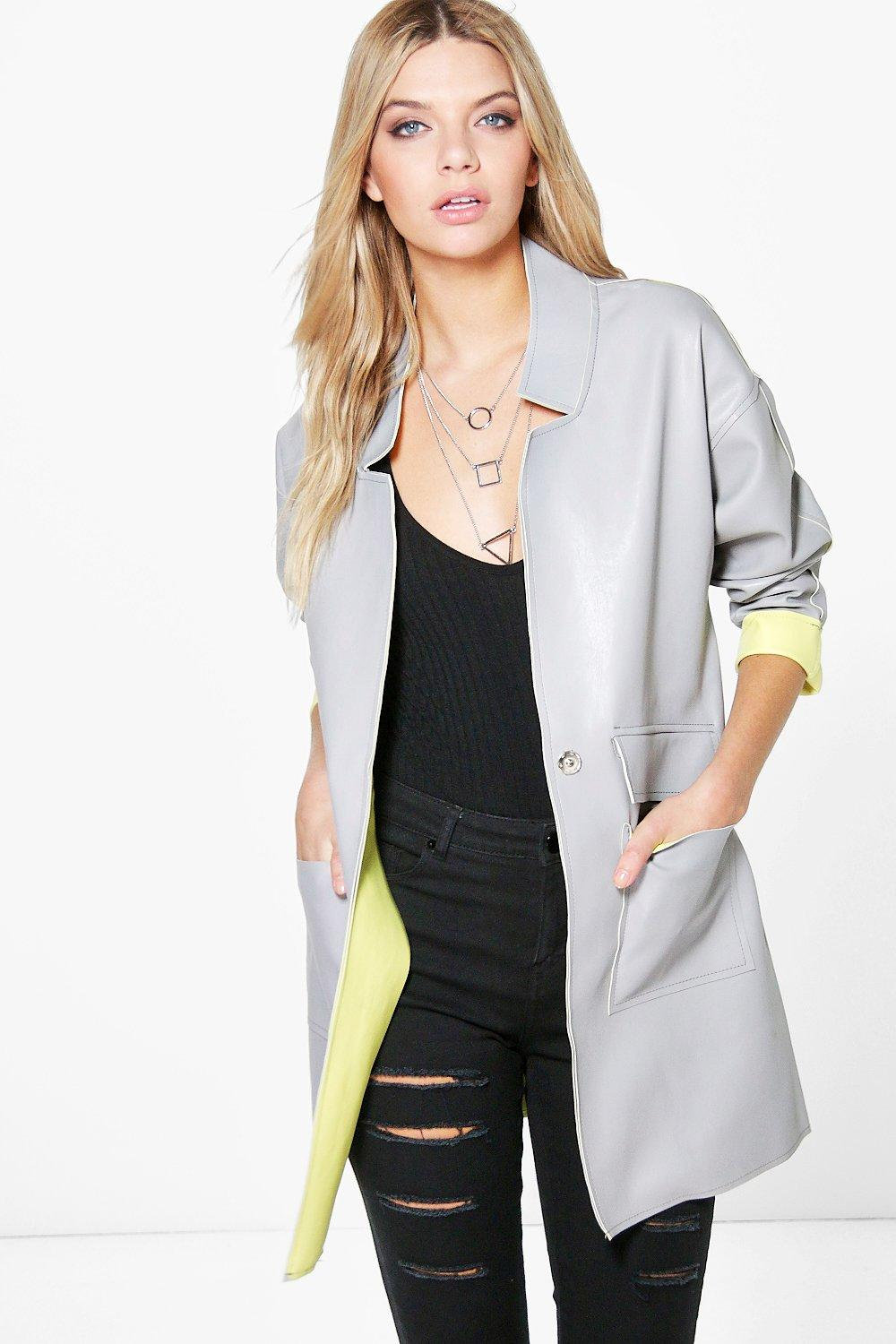 Isla Leather Look Bonded Duster
