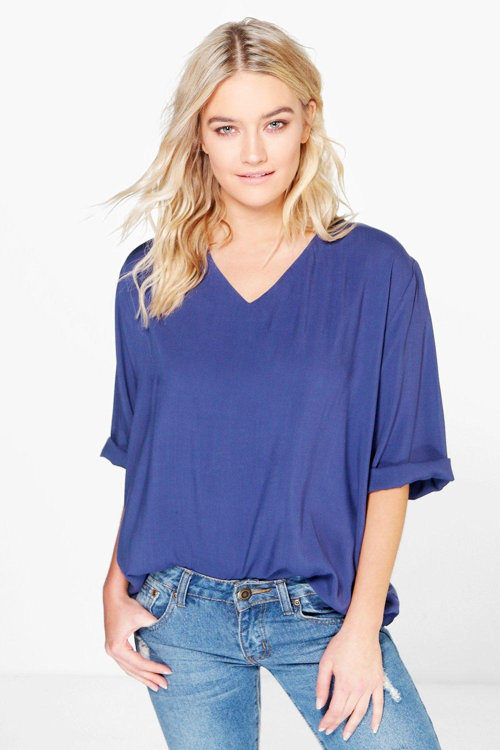 Louise V Neck Loose Fit Top