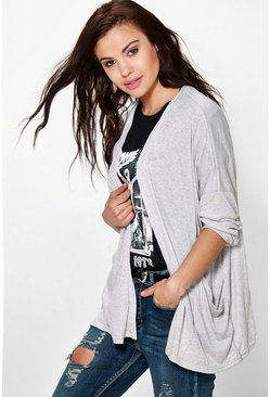 Layla Drape Front Long Sleeve Cardigan