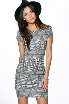 Katherine Multi Print Bodycon Dress