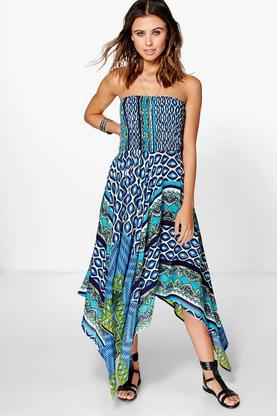 Taylor Printed Hanky Hem Dress