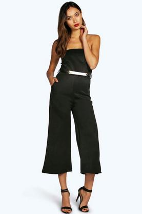 Molly Bandeau Culotte Belted Jumpsuit