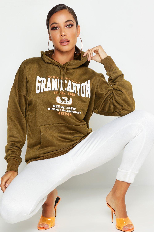 Womens Basic Hoodie Grand Canyon - khaki - 38, Khaki - Boohoo.com