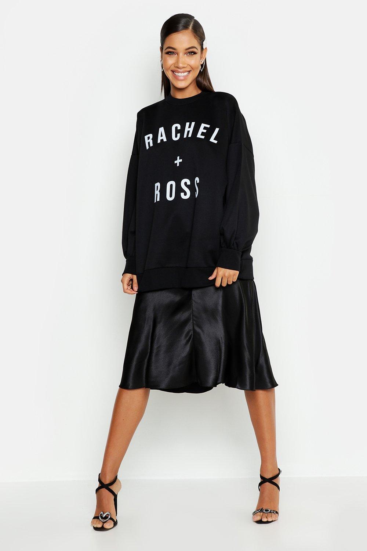 Womens Sweatshirt mit Ross + Rachel Slogan - schwarz - XS, Schwarz - Boohoo.com
