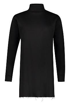Roll Neck Neon Sweatshirt Dress