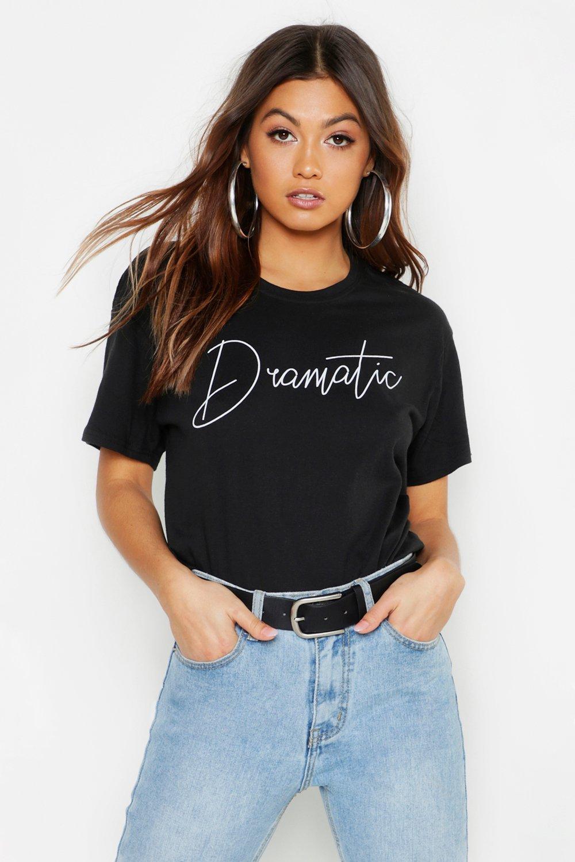Womens T-Shirt mit Epic Slogan - schwarz - S, Schwarz - Boohoo.com