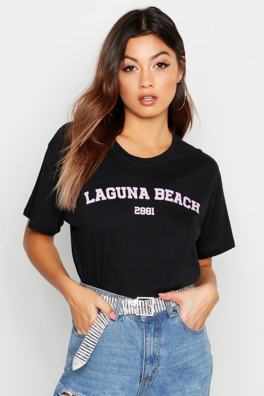 Купить Пастельная футболка с принтом-слоганом Laguna Beach, boohoo