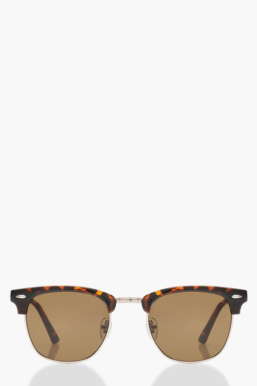 Классические солнцезащитные очки в квадратной черепаховой оправе фото