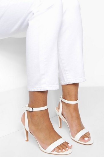 White Low Heel Basic 2 Parts