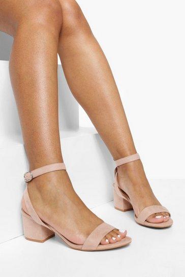 Blush Low Block Heel 2 Parts