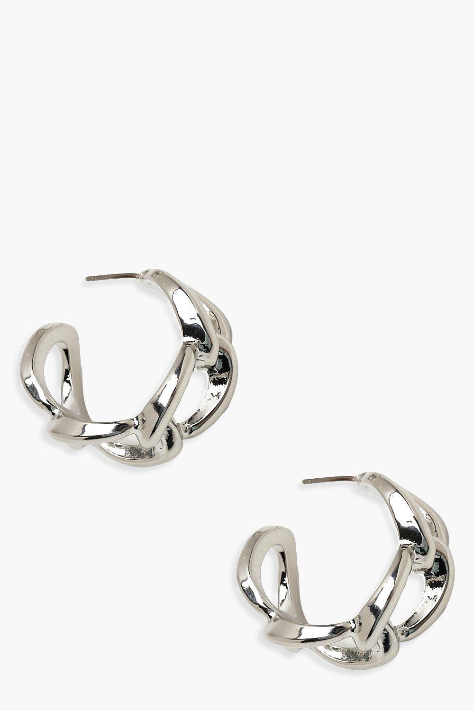 Серьги-кольца в виде цепи