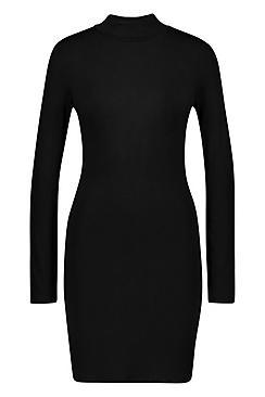 Jersey Roll Neck Bodycon Dress