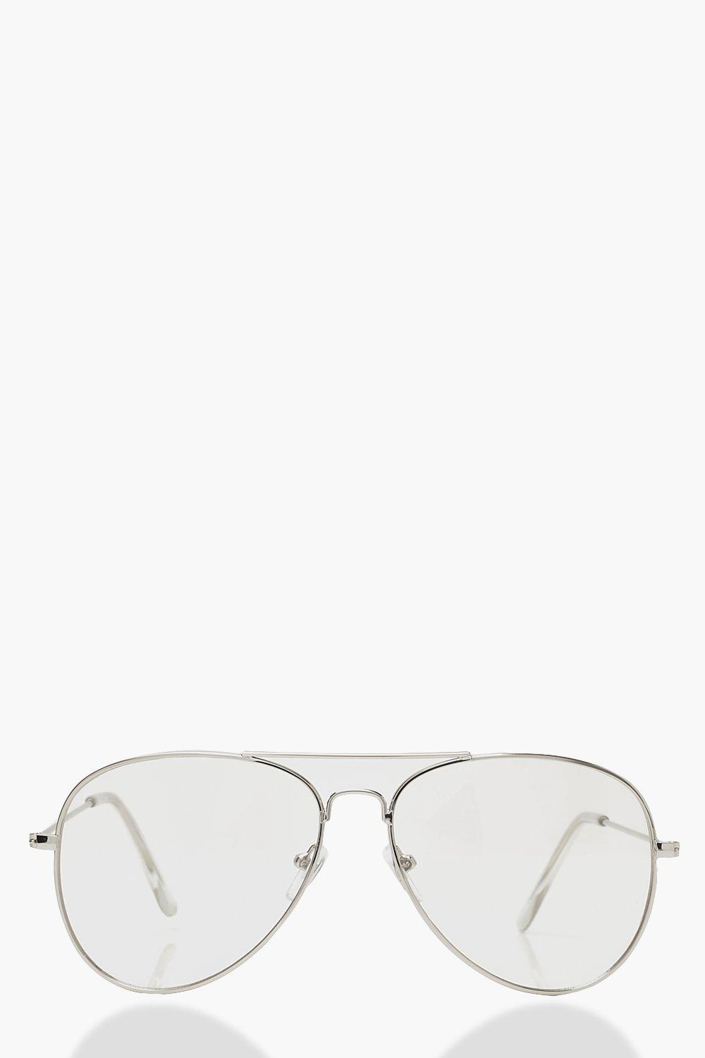 Sale Accessories Clear Lens Aviator Glasses