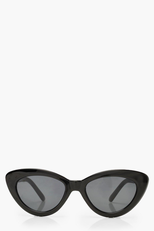 Купить Black Skinny Cat Eye Sunglasses, boohoo