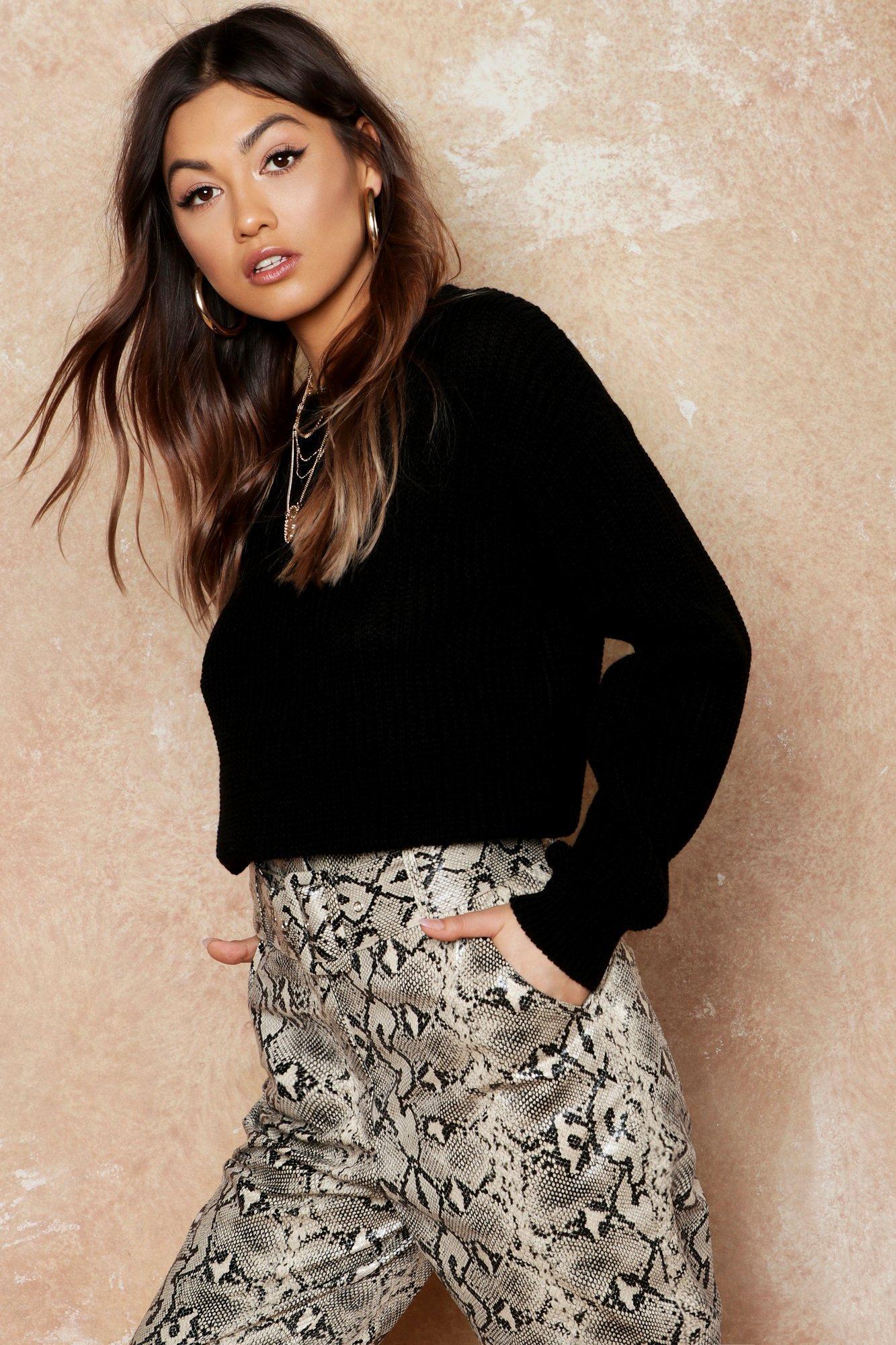 Womens Oversized Pullover - schwarz - M, Schwarz - Boohoo.com
