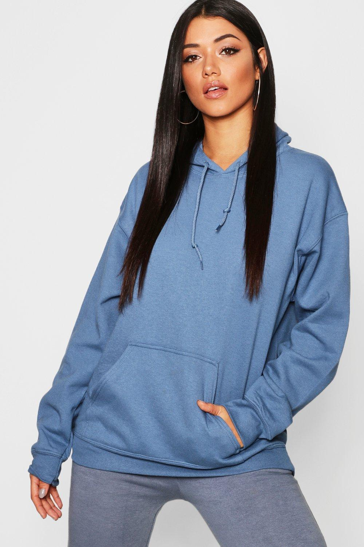 Womens Oversized Hoodie - Blau - L, Blau - Boohoo.com