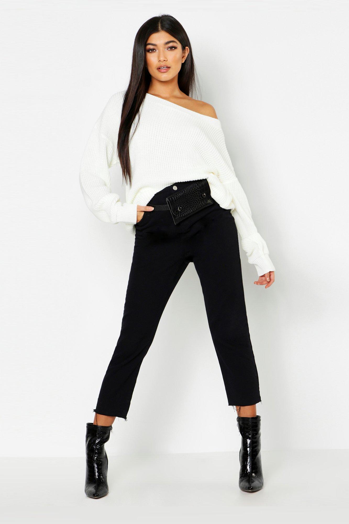 Womens Pullover mit Schlitzausschnitt - creme - M, Creme - Boohoo.com