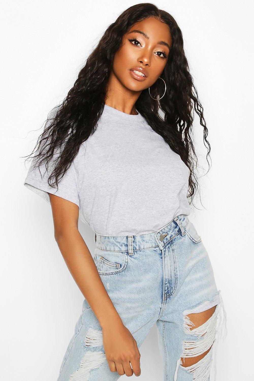 Womens Übergroßes T-Shirt - Grau meliert - S, Grau Meliert - Boohoo.com