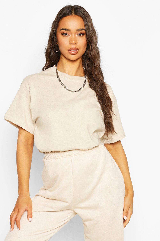 Womens Übergroßes T-Shirt - Steingrau - L, Steingrau - Boohoo.com