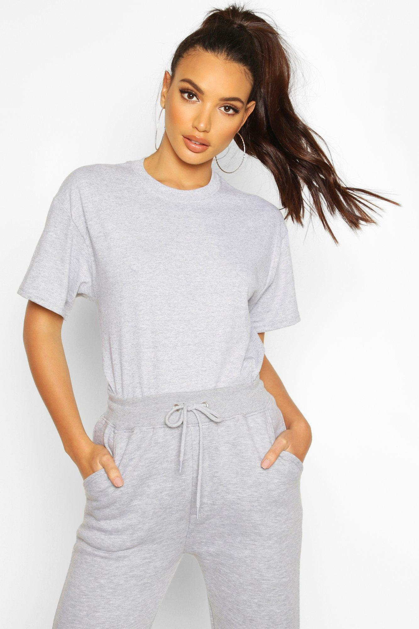 Womens Oversized T-Shirt - light grey - L, Light Grey - Boohoo.com