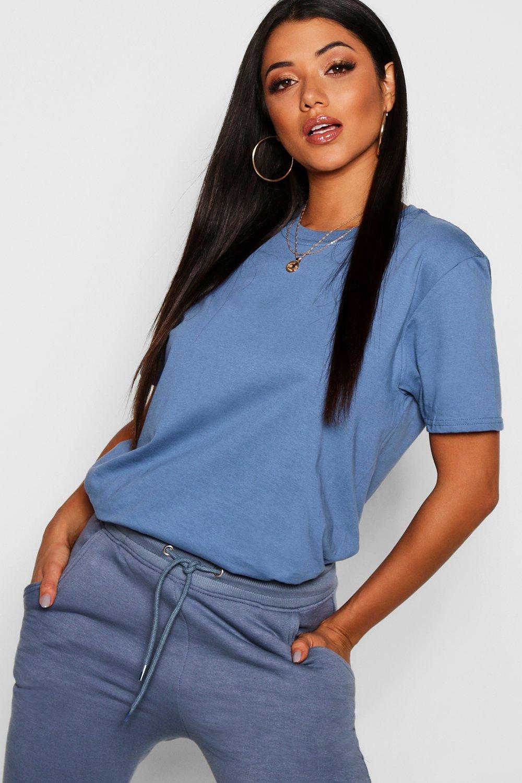 Womens Übergroßes T-Shirt - Indigoblau - S, Indigoblau - Boohoo.com