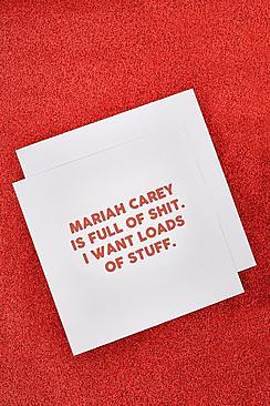 Biglietto d'auguri natalizio con Mariah Carey
