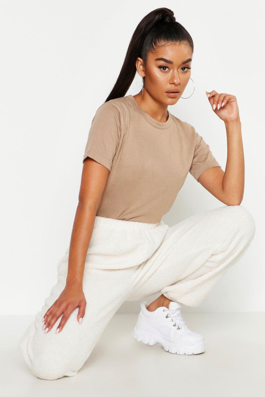 Womens Basic Short Sleeve T Shirt - stone - 38, Stone - Boohoo.com