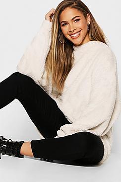 Pullover oversize in maglia arruffata