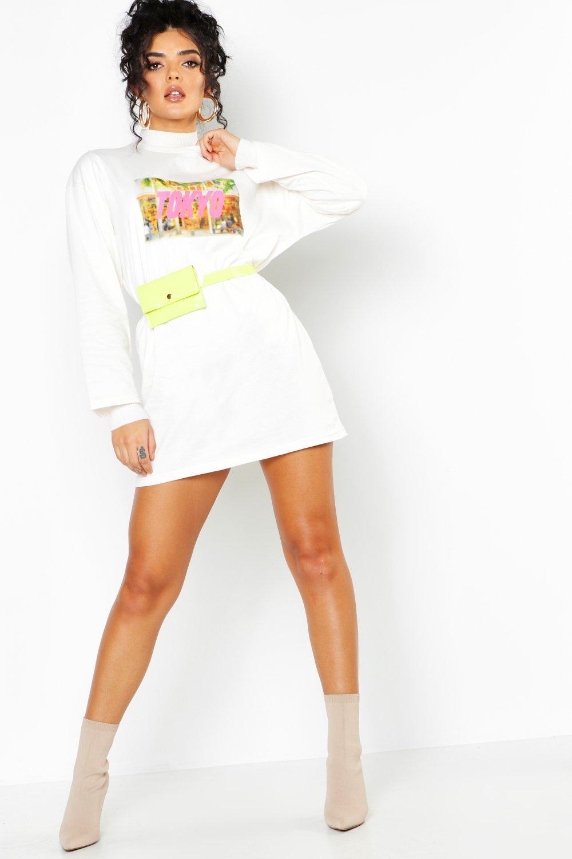 Купить Dresses, Платье-футболка с длинными рукавами Tokyo, boohoo