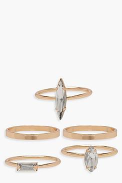 Confezione con anelli sovrapponibili con strass