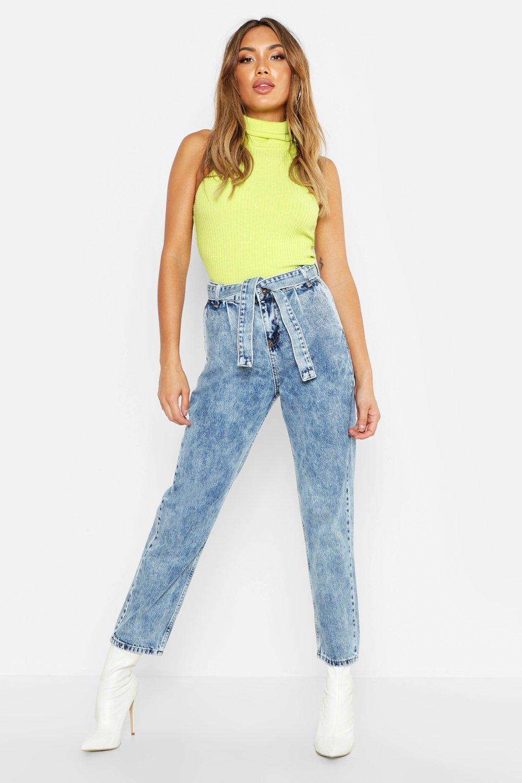 Купить Jeans, Выцветший кислотный Мамины джинсы, boohoo